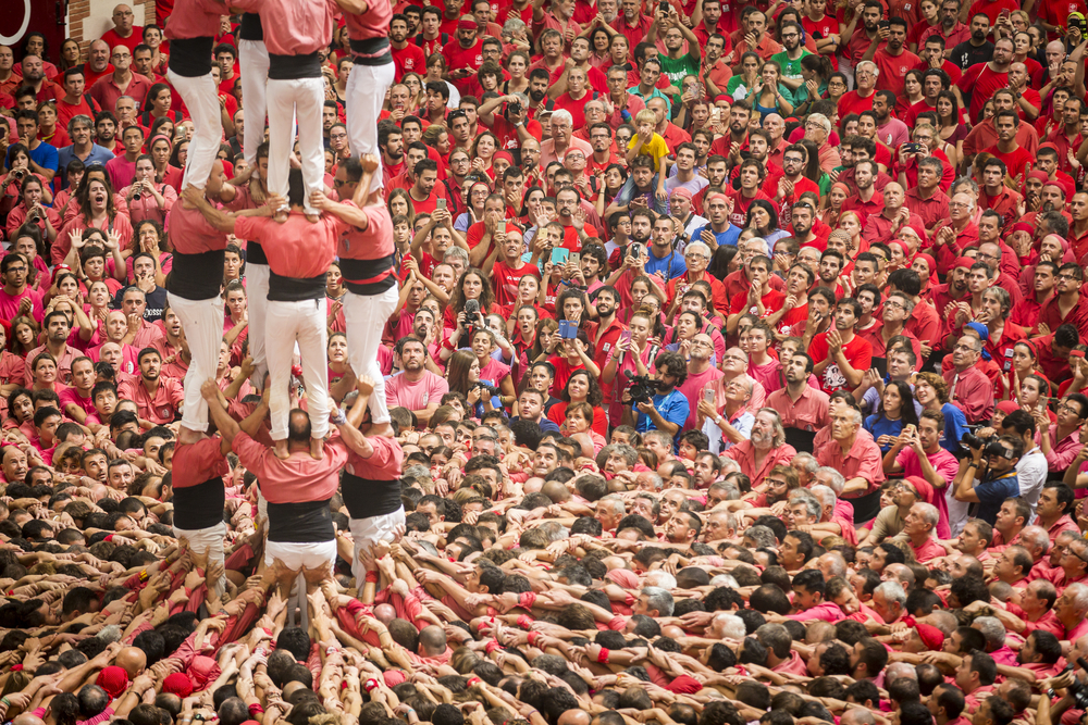 Performance by the Castellers of the Alt Maresme